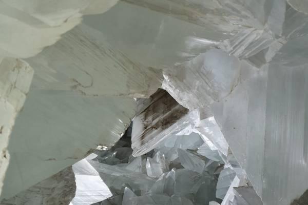 Geoda de Pulpi, joya de cristales de yeso