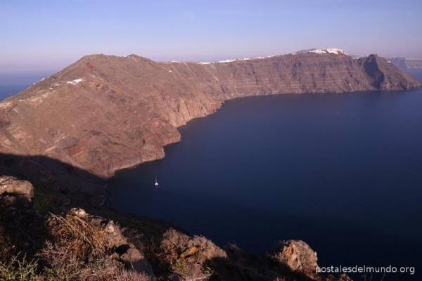 Santorini de norte a sur